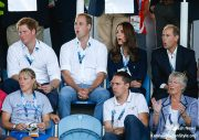 William, Kate and Harry at the Commonwealth Games