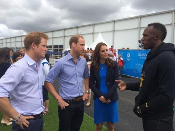 Usain Bolt meets Kate Middleton