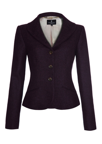 Katherine Hooker Alexander Jacket in Purple
