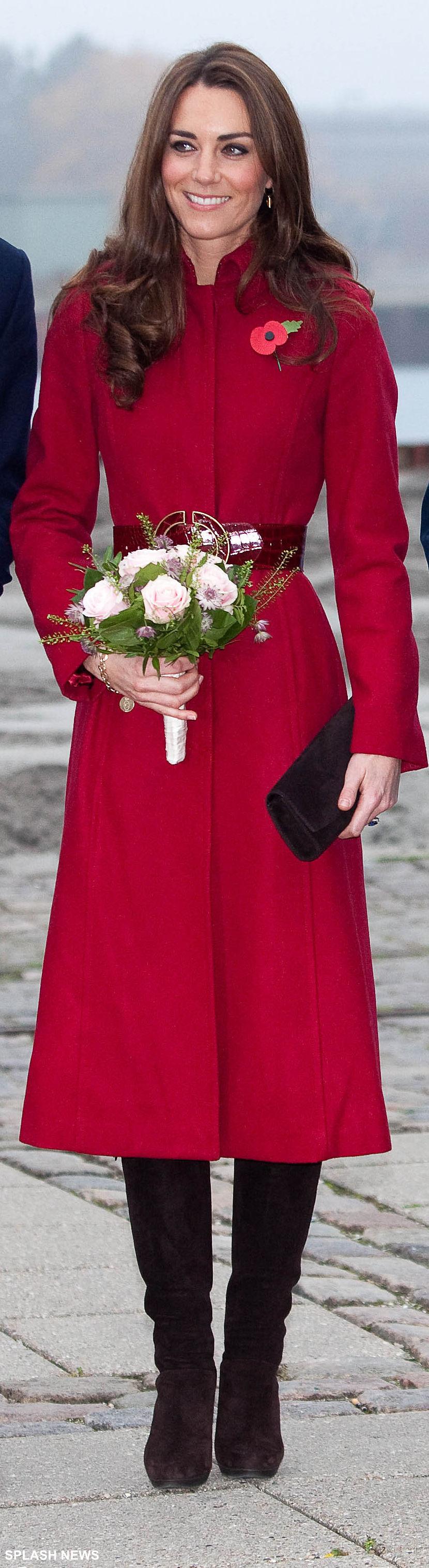 Kate Middleton wearing Stuart Weitzman boots in Denmark, 2011