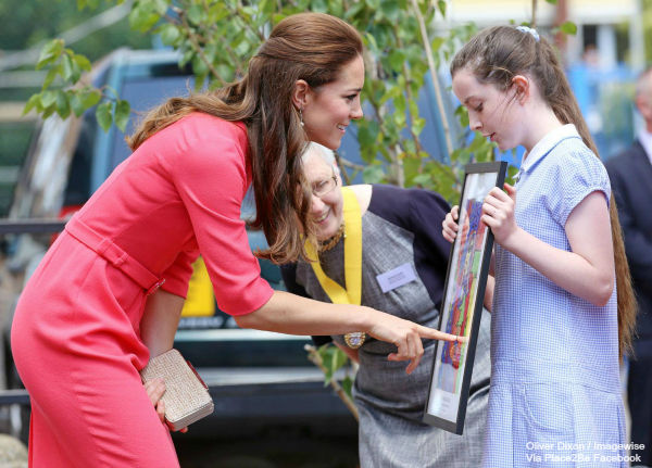 Kate Middleton with the L.K. Bennett Natalie clutch bag