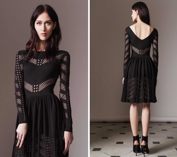A look at the Temperley London Emblem Flare dress on the model