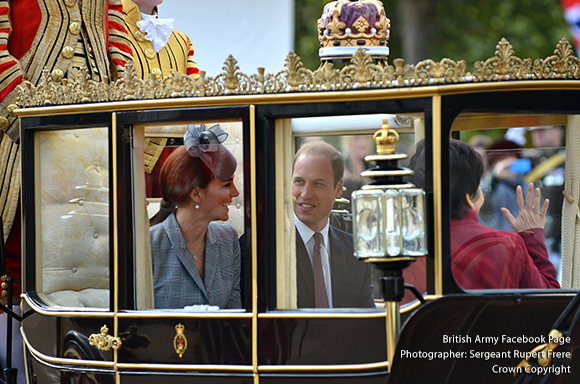 William and Kate in the procession