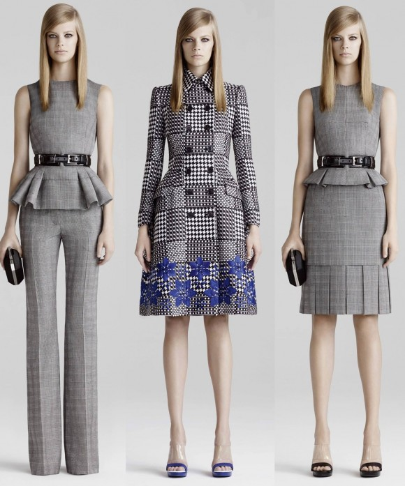 Is Kate's coat-dress a combination of the outer two outfit's fabrics and the coat's style (centre)