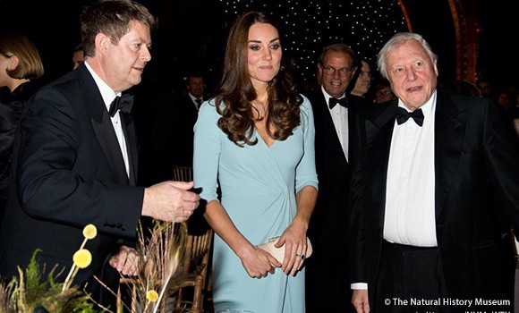 Duchess of Cambridge, Sir Michael Dixon and Sir David Attenborough