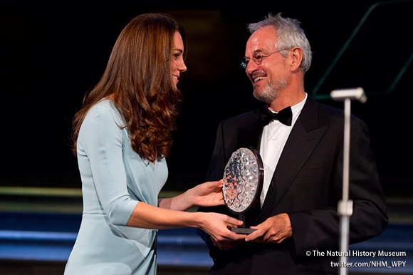 Duchess of Cambridge with overall winner Michael Nichols
