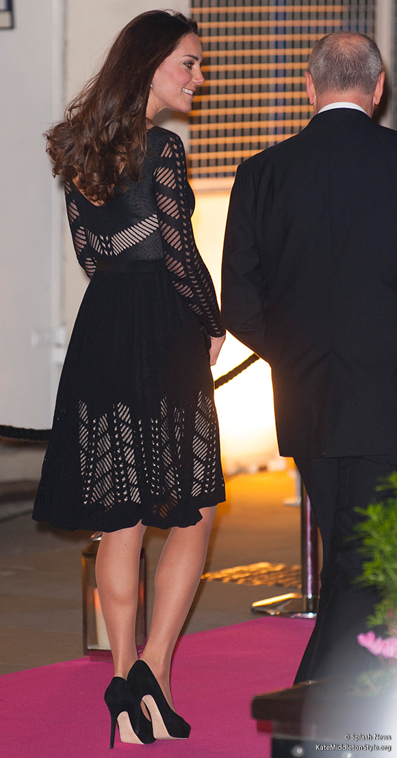 Kate entering the Action on Addiction Autumn Gala Evening