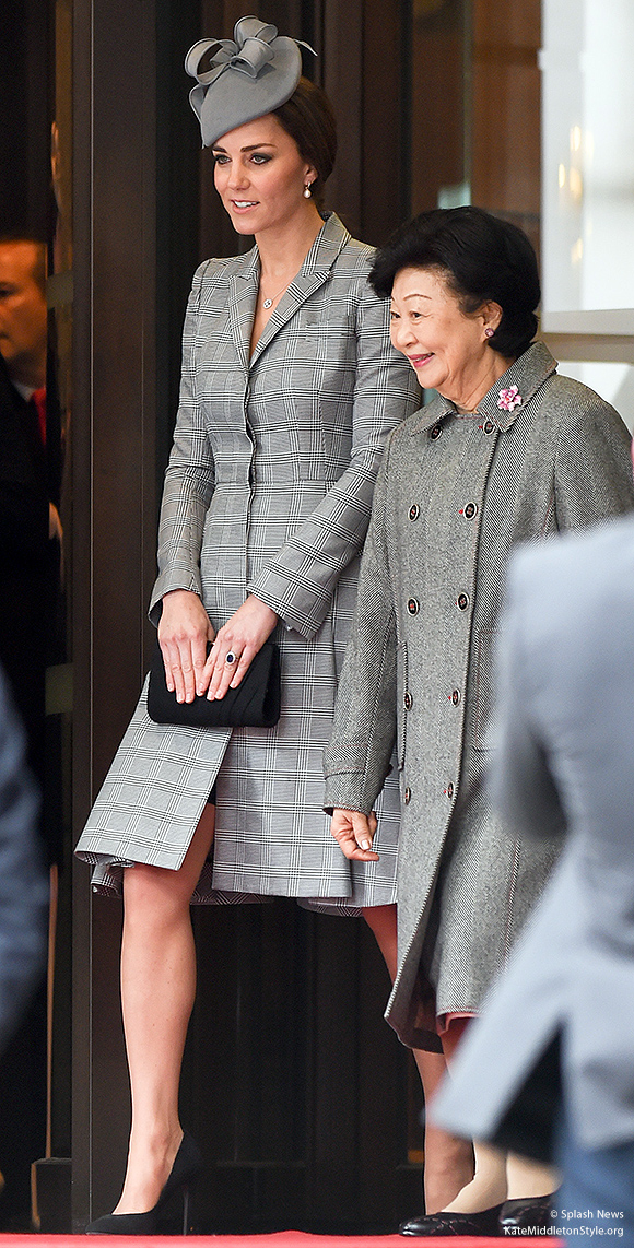 Kate in London today. Kate wore Alexander McQueen