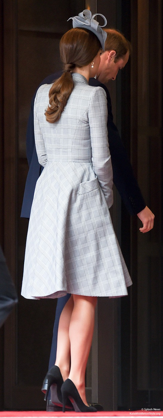 The back of Kate's coat dress