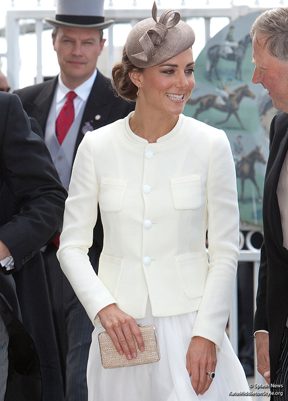 Kate carried her L.K. Bennett clutch bag to the Epsom Derby