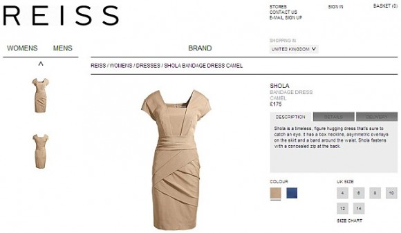 Riess Shola dress, as seen on Reiss' website