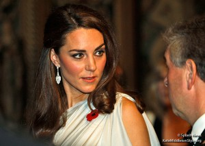 Kate wears silver Jenny Packham gown for National Memorial Arboretum Appeal reception at St. James's Palace