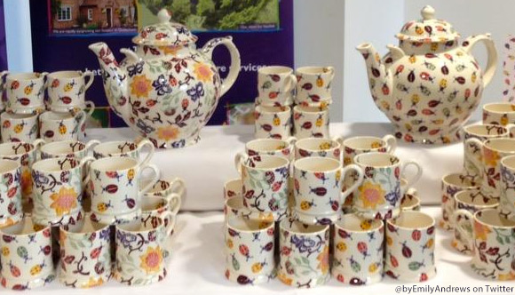 Emma Bridgewater's collection in collaboration with the Duchess appears to feature Ladybirds, Butterflies & Flowers
