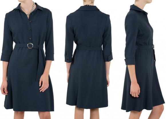 Goat Vreeland shirt dress in blue