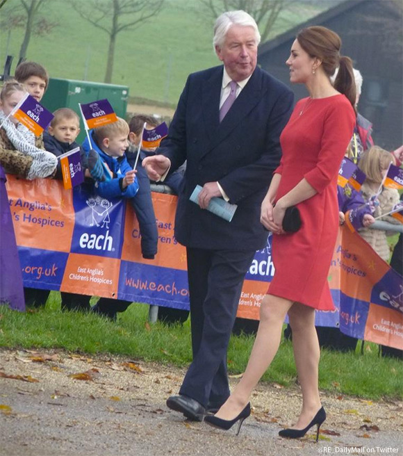Kate wears the Katherine Hooker Ascot dress
