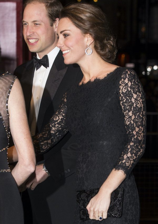 Kate in DVF Zarita lace dress for Royal Variety Performance