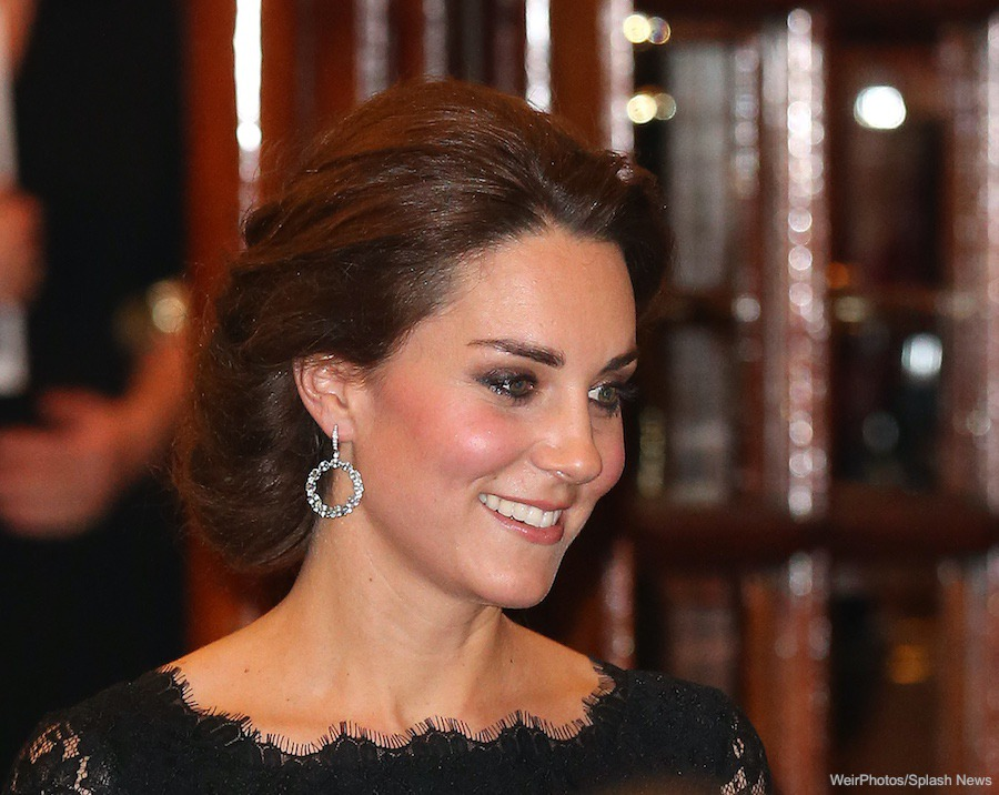 Kate Middleton's sparkling hoop earrings