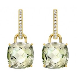Kiki McDonough Cushion Cut Earrings