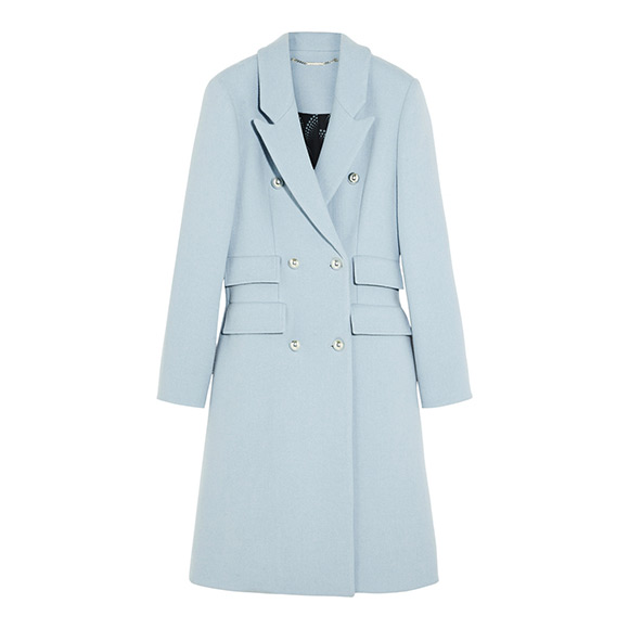 Baby blue Matthew Williamson coat