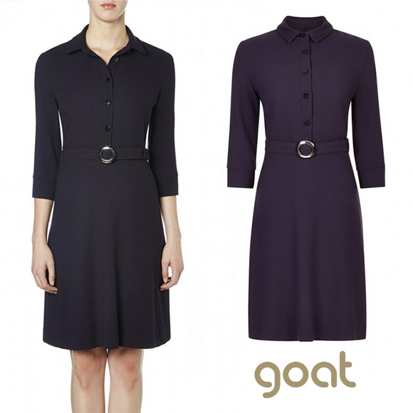 "Goat Fashion Vreeland Dress in ""Iris"" purple"