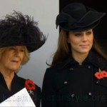Duchess of Cambridge with the Duchess of Cornwall at the Remembrance Day ceremony in London (2011)