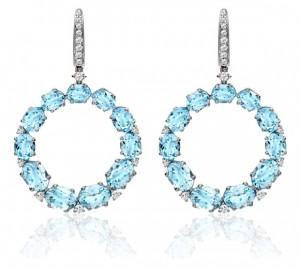 Kiki McDonough Lola Earrings in Blue Topaz