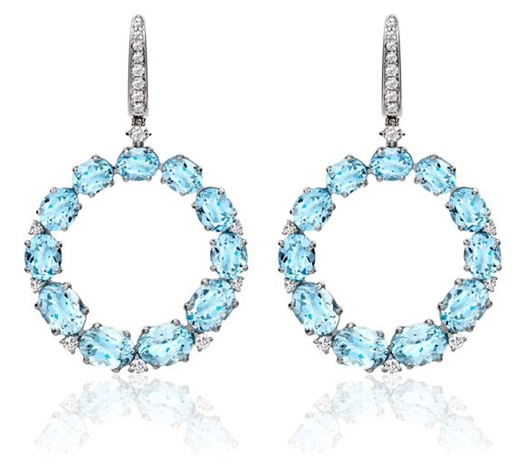 Kiki McDonough Lola Earrings in Blue Topaz
