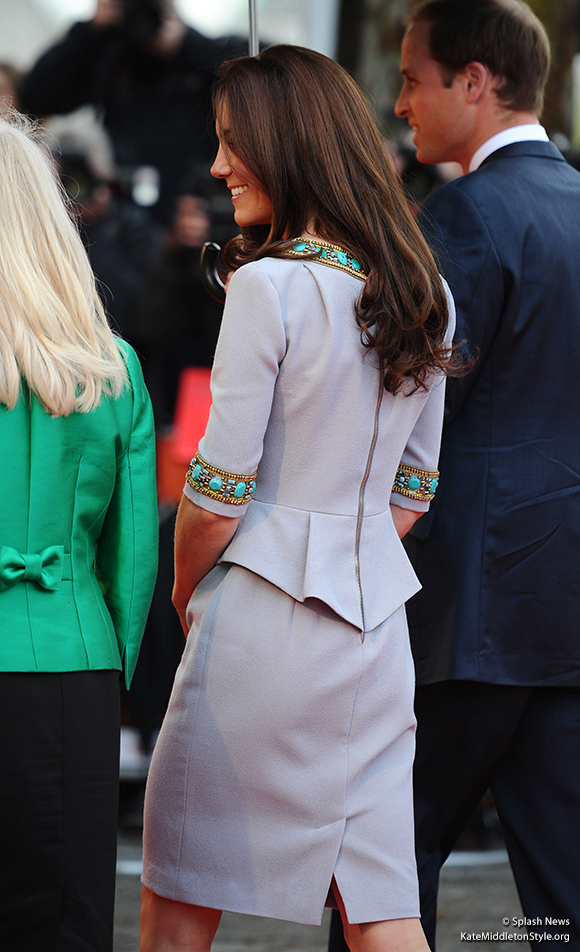 A look at the back of Kate's Matthew Williamson dress.