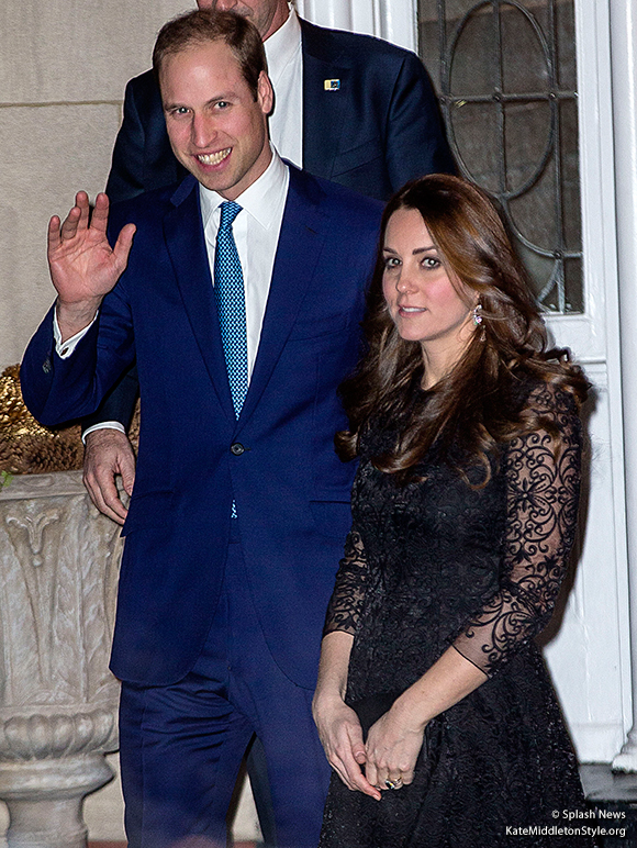 Kate wears a Beulah London lace dress