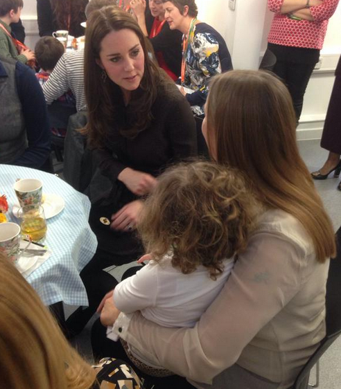 The Duchess hearing the thoughts of foster carers and meeting some very adorable children  - ‏@fosteringnet