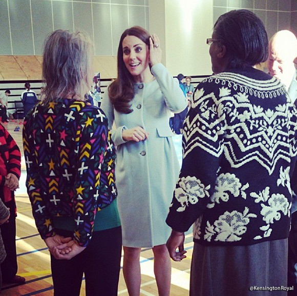 Kate visits Kensington Leisure Centre. Picture by Kensington Royal Instagram