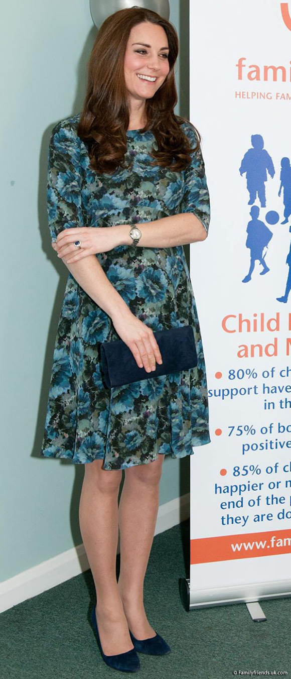 "Kate wears Seraphine Maternity's ""Florrie"" Dress."