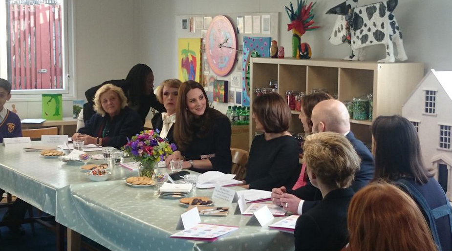 @KensingtonRoyal Twitter account - Kate at the roundtable discussion