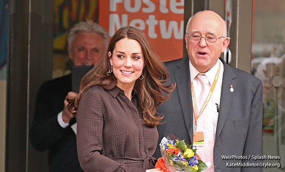 Duchess of Cambridge wears the gold hoop Mirabelle Lolita earrings to the London-based event