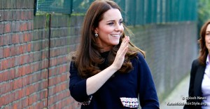 Kate wears Madderson dress to officially name The Clore Art Room today in London