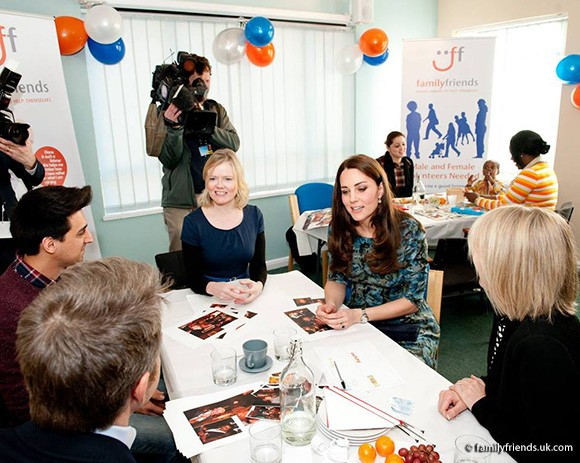 The Duchess of Cambridge visited the Family Friends charity