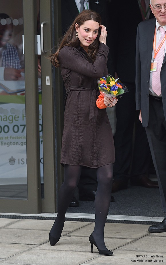 Kate wore a Hobbs dress for her visit to The Fostering Network yesterday
