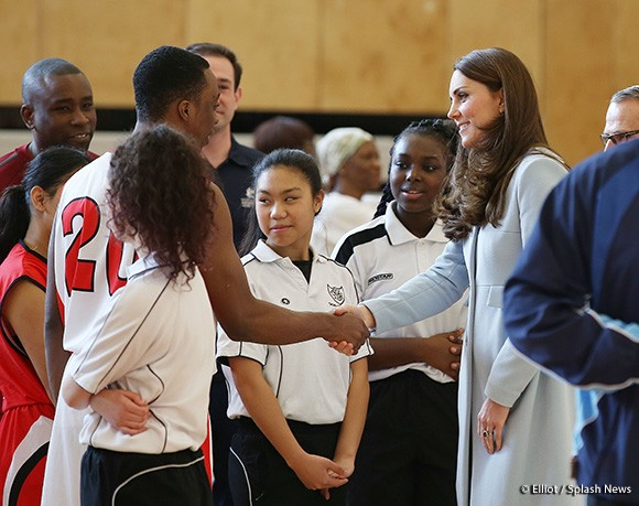 Catherine Duchess of Cambridge formally opens Kensington Leisure Centre.