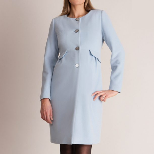 Seraphine Blue Maternity Coat