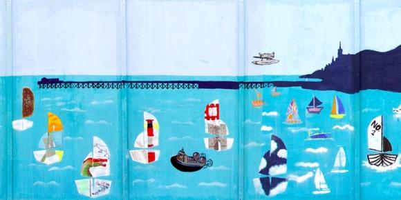 The community art mural