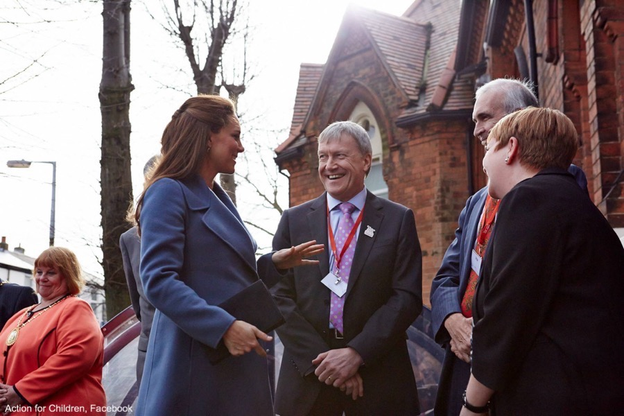 Kate Middleton visits an Action for Children centre in Smethwick