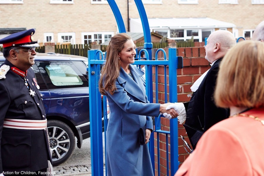 Kate Middleton visits an Action for Children centre
