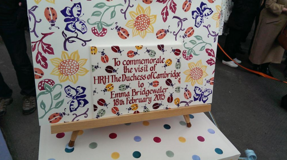 Emma Bridgewater commemorative plaque