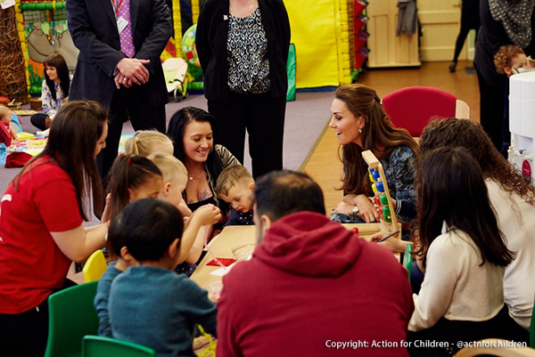 The Duchess watched a play session at Action for Children