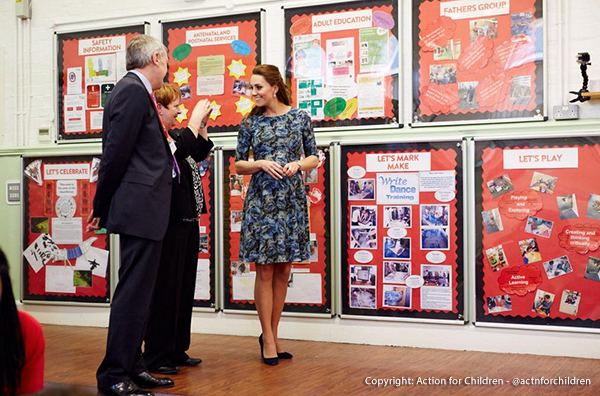 Kate wears the Florrie dress at Action for Children