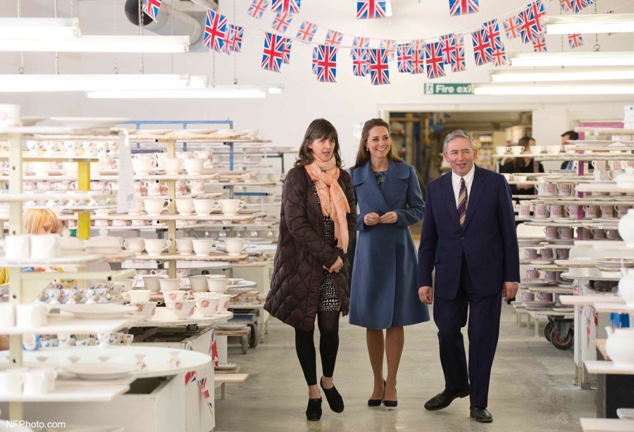 Kate Middleton visiting Emma Bridgewater in Stoke-on-Trent in 2015. Kate was pregnant at the time.