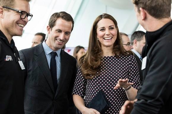 Kate wearing the boat print dress