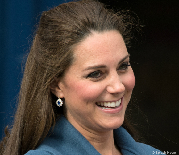 Kate's diamond and sapphire earrings