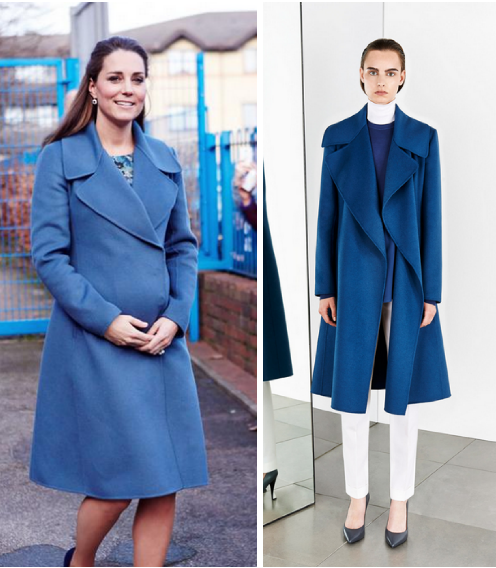 Kate SportMax MaxMara Blue Coat Gerbera