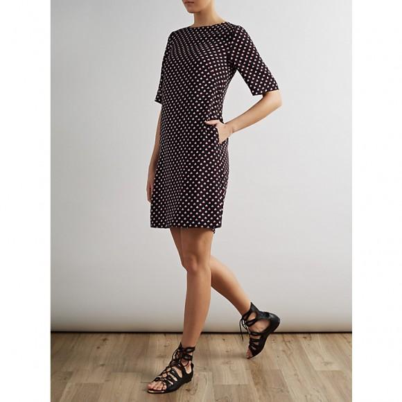 Model wearing Alice Temperley Boat Print Dress